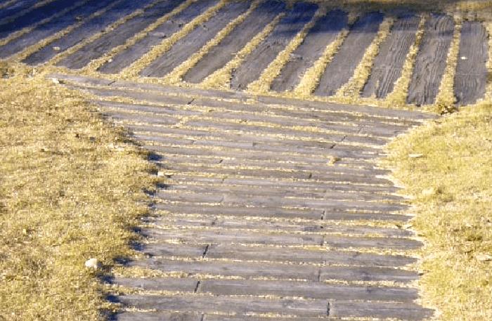 エクステリア国産材ガーデン枕木